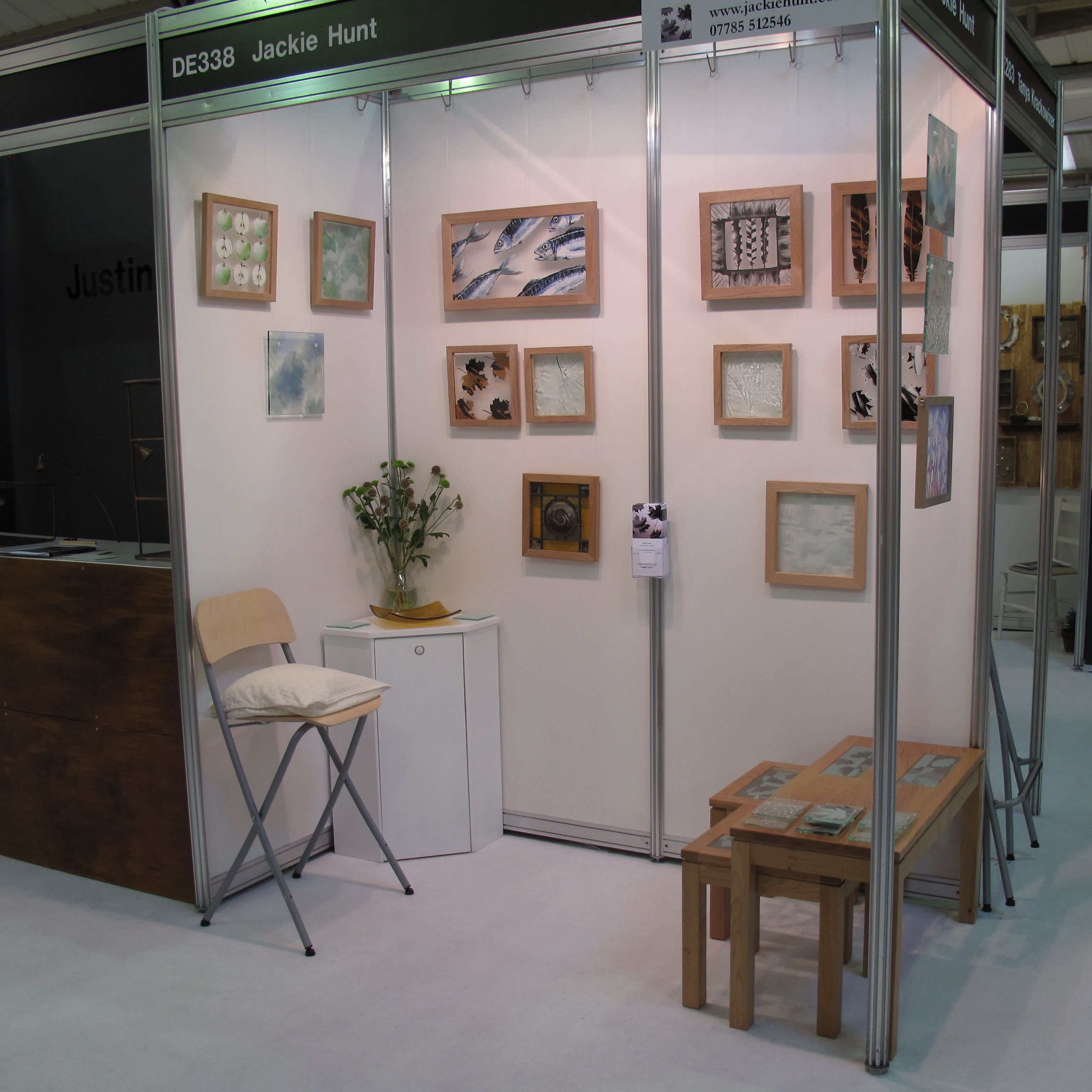 Exhibition Stand Design Harrogate : Jackie hunt stained glass and illustration